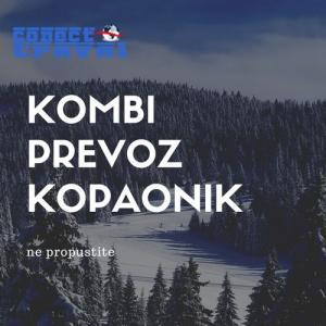 Kombi prevoz putnika do Kopaonika