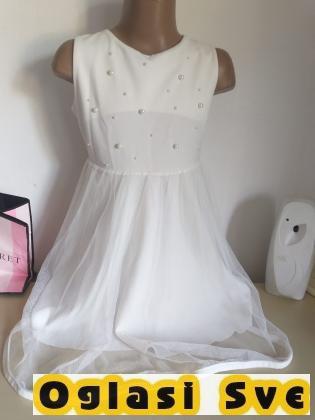 decija bela haljina